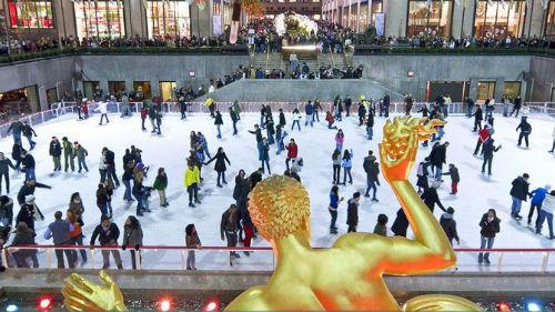 tour del pattinaggio sul ghiaccio al rockefeller center