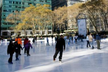 Pattinaggio sul ghiaccio a New York
