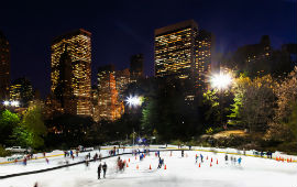 Pattinare al Wollman Rink, Central Park