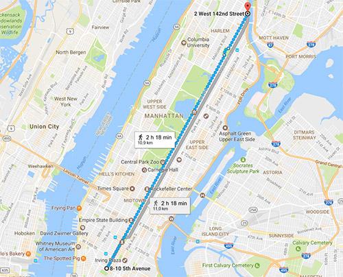 percorso della 5th Avenue