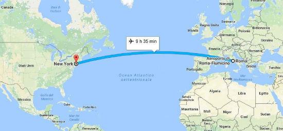 quante ore di volo per New York