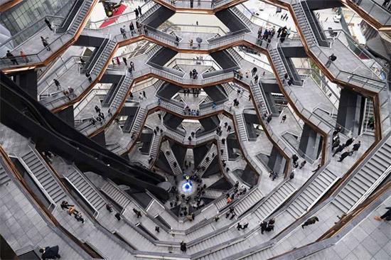 scalinata The Vessel all'Hudson Yards