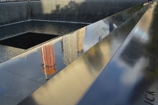 foto del memoriale del world trade center