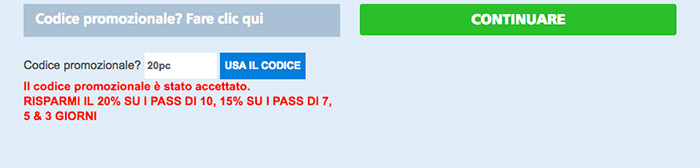 Codice Sconto 20% NY Pass