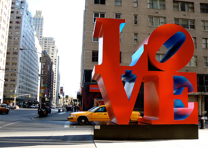 Dove si trova la scritta love a new york for Alloggi per studenti new york