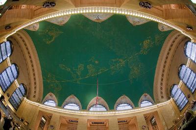 Soffitto dell'atrio principale di Grand Central Terminal, NY