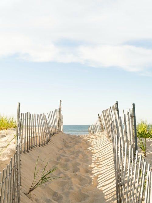 Ingresso ad una spiaggia negli Hamptons