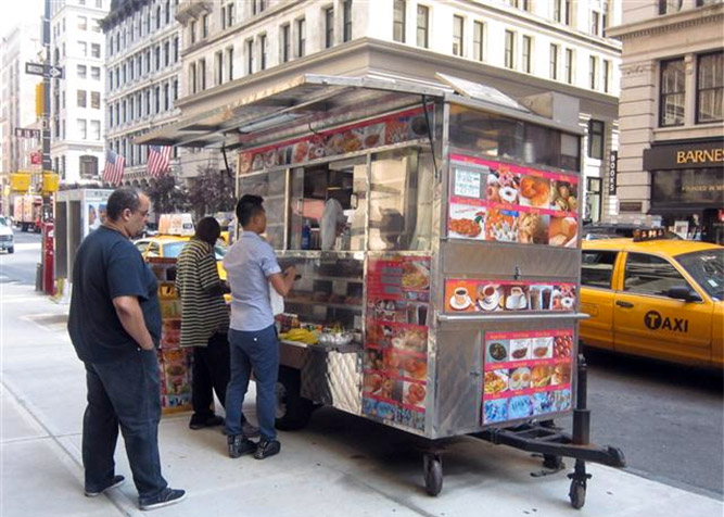 Tour dello street food a new york