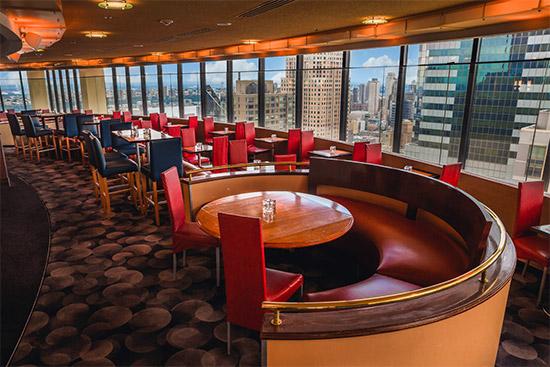 ristorante sui tetti a Times Square, girevole con vista 360°