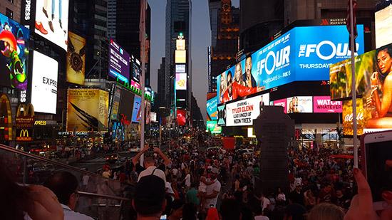 visita serale a Times Square