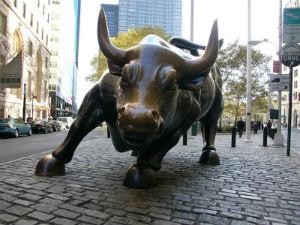 La statua del toro a Wall Street