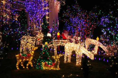 tour luci di natale a Dyker Heights
