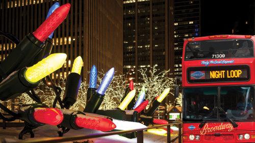 tour delle luci di Natale in autobus