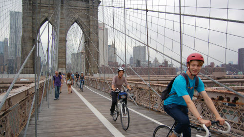 tour del ponte di Brooklyn in bicicletta