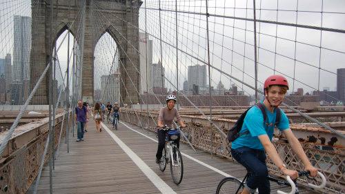 tour del ponte di Brooklyn in bicicletta