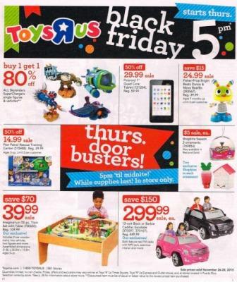 volantino toys-r-us con offerte black friday