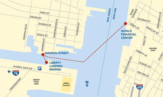 Liberty Landing Ferry da Manhattan a Liberty State Park