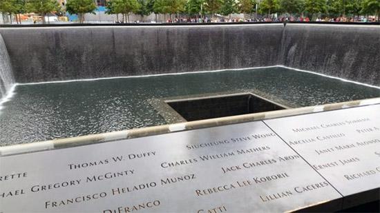 una delle due vasche a memoriale dell'11 Settembre, a New York