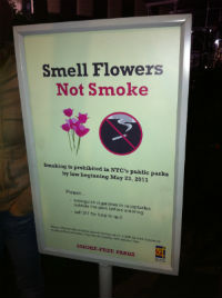 Vietato fumare a New York