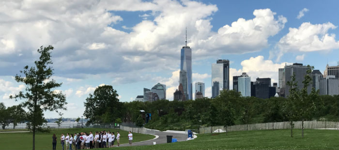 Vista su Manhattan da Governors Island