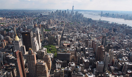 vista di New York dall'Empire State Building