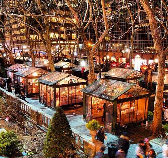 Winter Village al Bryant Park di New York