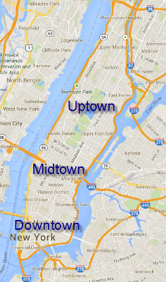 Le zone di Manhattan: Downtown, Midtown e Uptown